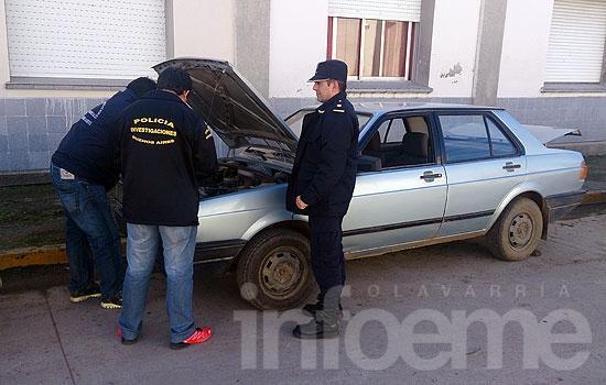 Secuestran vehículo cuyo motor estaba siendo adulterado