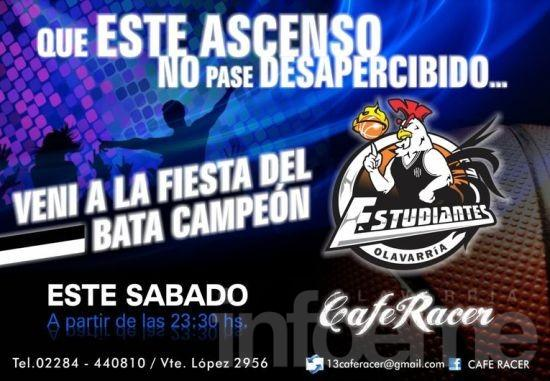 """La fiesta del """"Bata Campeón"""" en Café Racer"""
