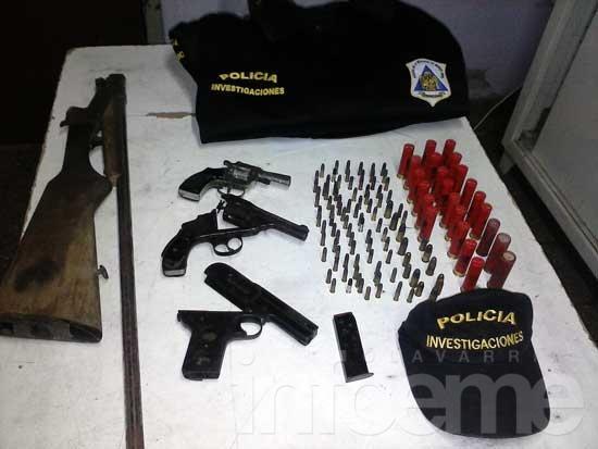 Secuestran armas y municiones en un allanamiento