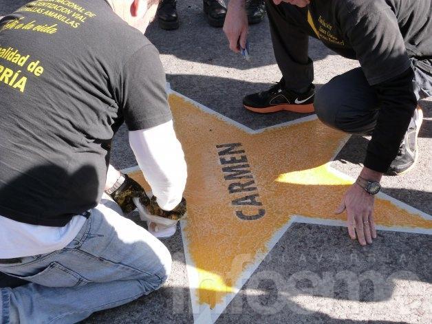Pintaron la estrella amarilla n°112 en memoria de una mujer atropellada