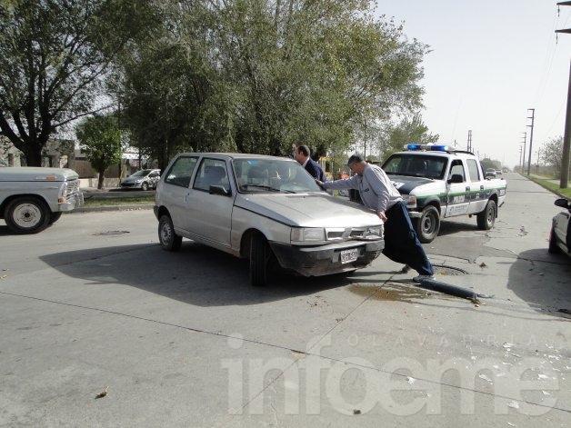 Violento accidente entre dos autos: no hubo heridos