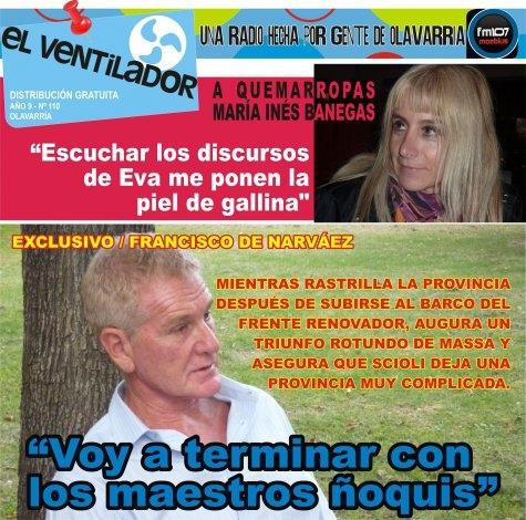 """""""El Ventilador"""" rastrilla con De Narvaéz en mayo"""