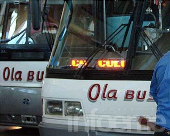 El paro de los choferes de Ola Bus continuará todo el fin de semana
