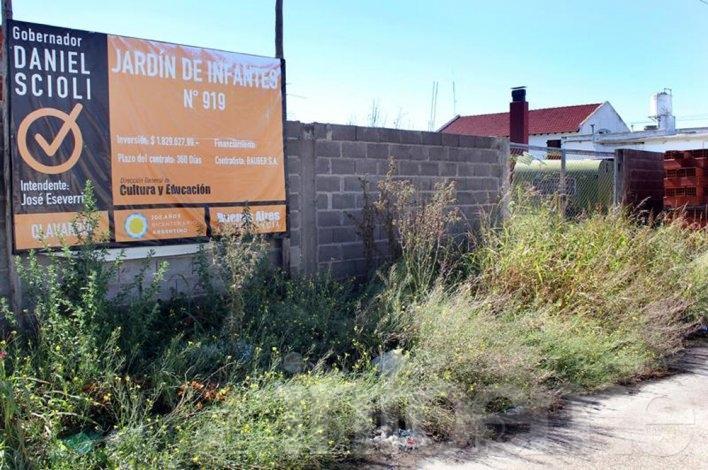 La Provincia finalizará el edificio del Jardín de Infantes Nº 919