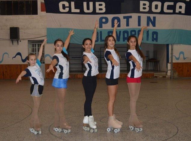 Cinco patinadoras de Boca estarán en el Campeonato Argentino