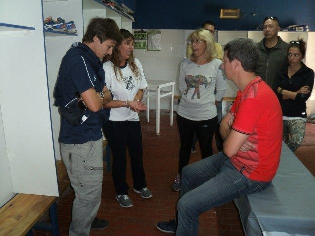 Gonzalo Bagú y Florencia Juárez entregaron equipamiento deportivo