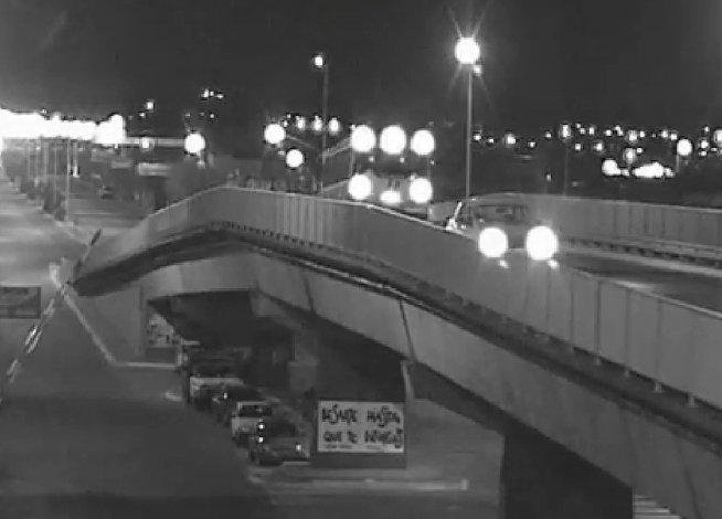 Alcoholizado, dejó un auto arriba del puente y salió corriendo