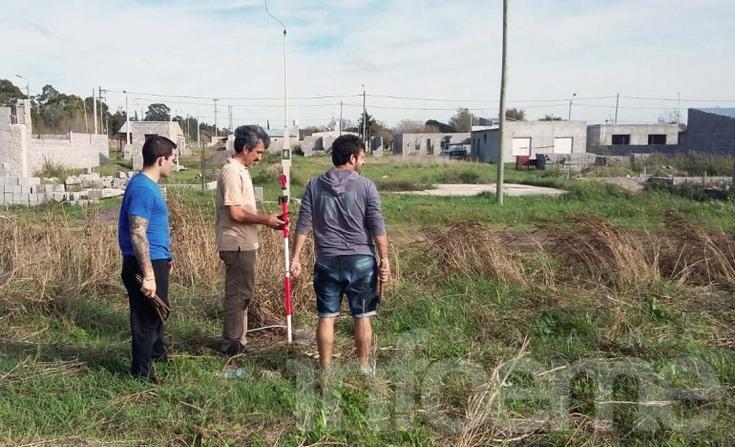 Demarcaron terrenos del Procrear en Loma Negra