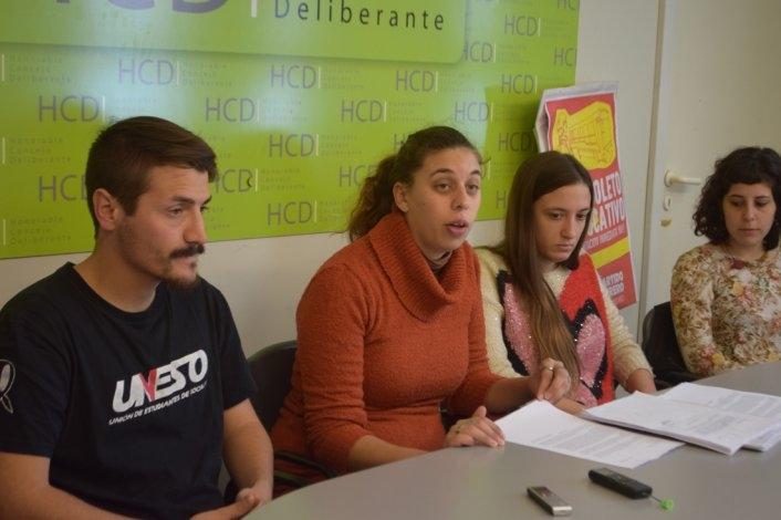 La Coordinadora presentó al Concejo el proyecto por boleto estudiantil