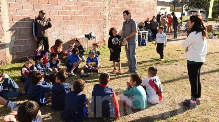 Fútbol barrial en El Fortín