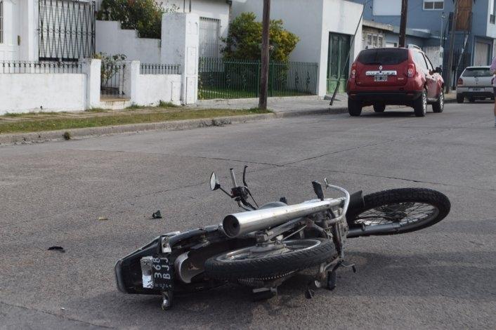Otro choque: una joven sufrió heridas en su pierna