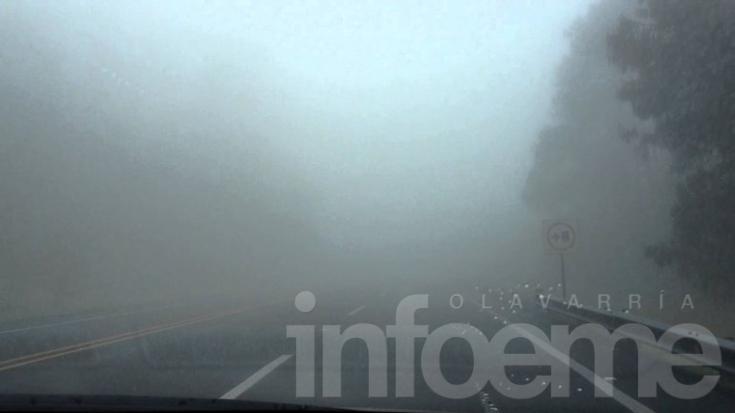 Precaución: Olavarría bajo un manto de niebla