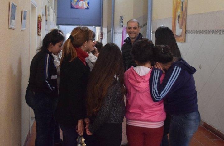 """Sergio Hernández visitó el Hogar de Niñas """"San José"""""""