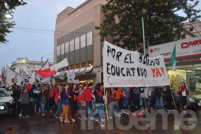 Boleto Estudiantil: manifestación tras el veto