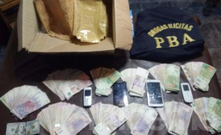 Secuestran droga y dinero en allanamientos: hay dos aprehendidos