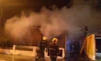 Incendio completamente declarado afectó a una vivienda