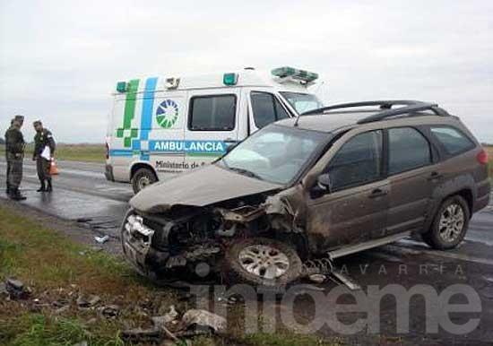 Olavarriense se accidentó en un choque frontal en Las Flores