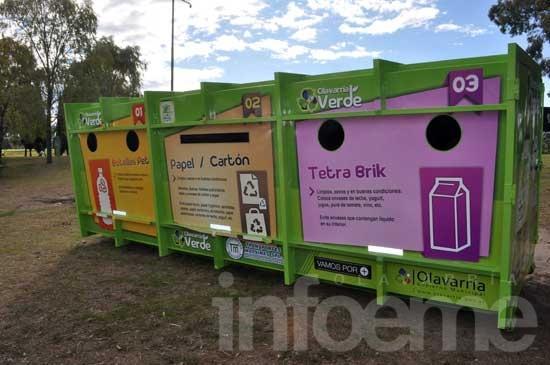 """Instalaron el primer """"Ecopunto"""" en el Parque Eseverri"""
