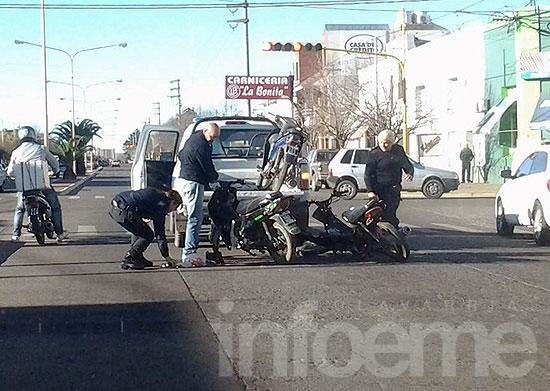 """Se les """"fueron"""" las motos que habían secuestrado"""