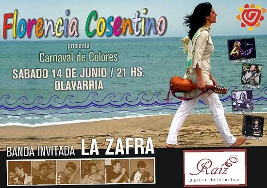 Se presentará Florencia Cosentino