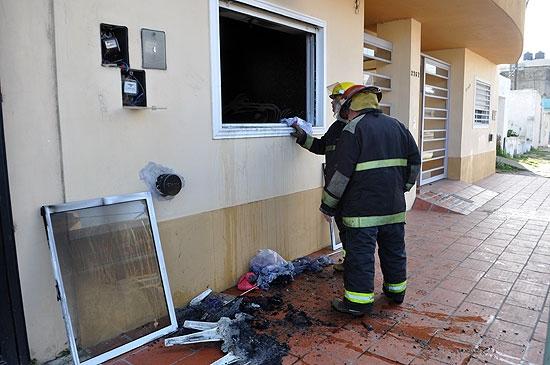 Se incendió un departamento en Pueblo Nuevo
