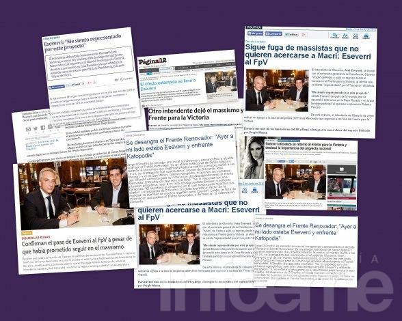 Las repercusiones de la vuelta de Eseverri al FpV, en los medios nacionales y el entorno político local