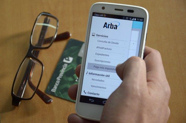 Se puede pagar el inmobiliario desde la app de Arba
