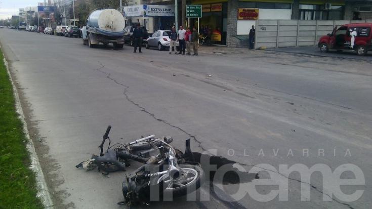 Es crítico el estado de uno de los motociclistas que sufrió el violento accidente