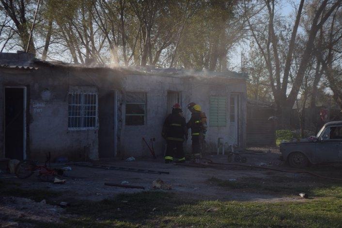 Incendio en una vivienda del Barrio Eucaliptus