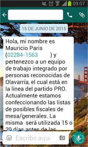 El PRO advierte por SMS donde piden datos personales
