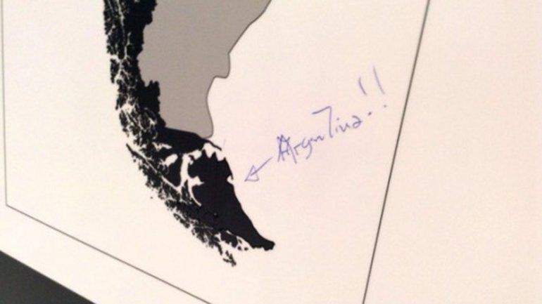 Polémica por un mapa que ubica a Tierra del Fuego en Chile
