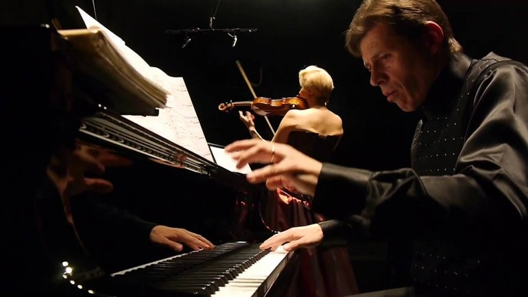 Violín y piano en el segundo concierto del Mozarteum