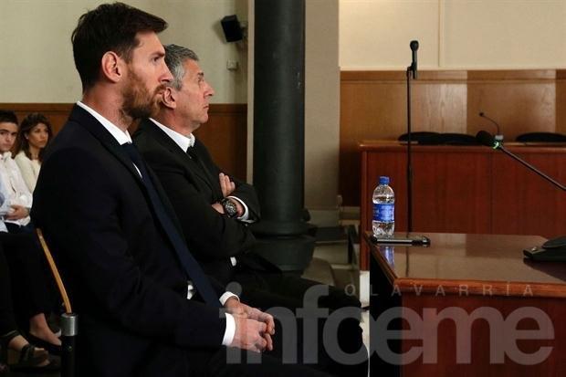 Messi ya declara en el juicio en su contra