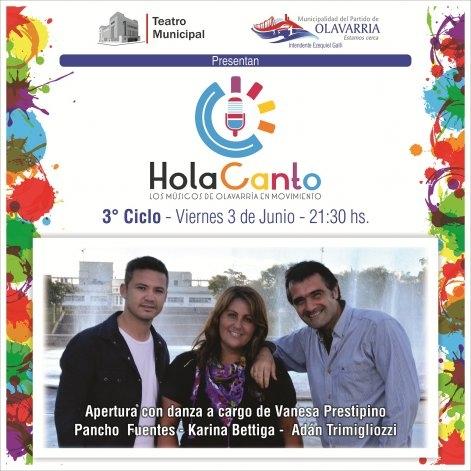 Esta noche no te pierdas el 3º Ciclo de Hola Canto