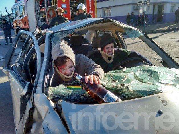 Seguridad Vial: realizaron un simulacro de accidente