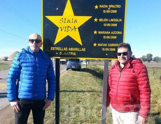 Estrellas Amarillas: descubrieron cartel recordatorio en el Camino de los Pueblos