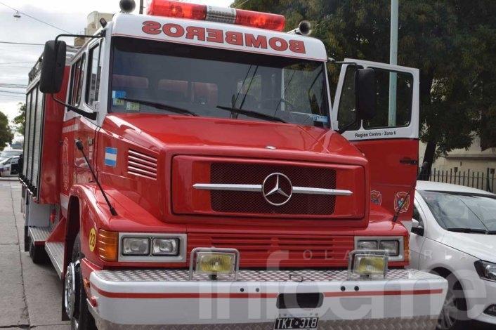 Incendio de viviendas en la ciudad y Loma Negra