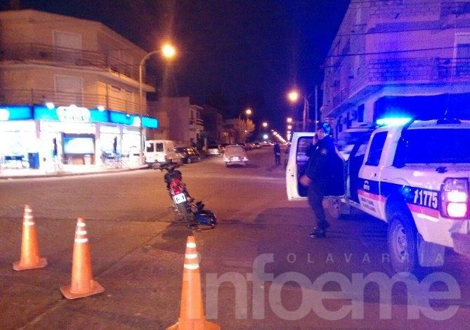 Motociclista herida en un accidente de tránsito