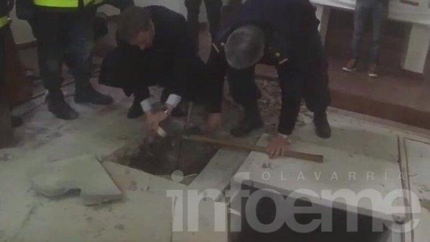 Hallaron tres bóvedas en el convento de General Rodríguez