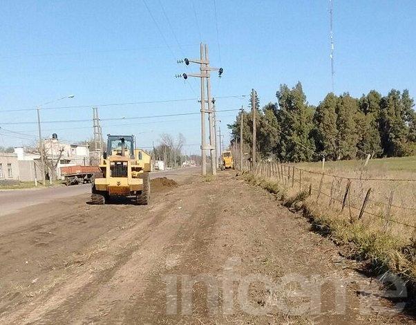 Realizan trabajos de reparación en avenida Alberdi