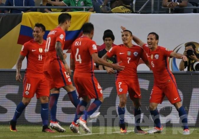 Chile venció a Colombia y será el rival de Argentina