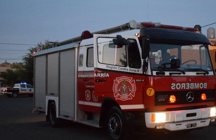 Principio de incendio en vivienda de Parque Arano
