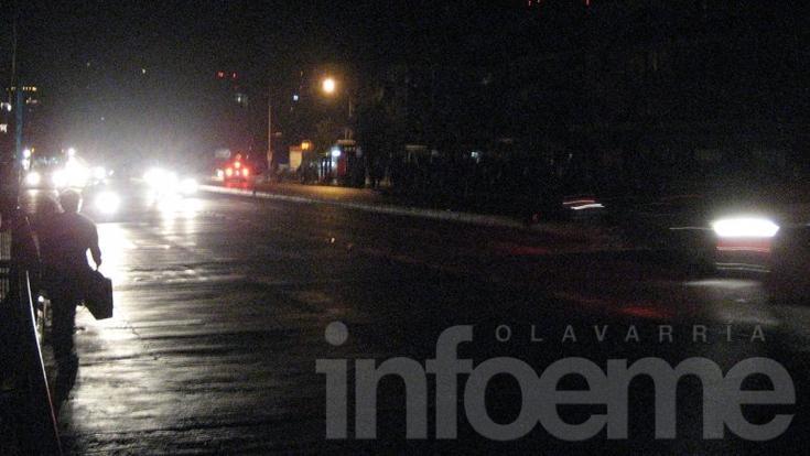 Toda Olavarría se quedó sin luz por una falla en Transba