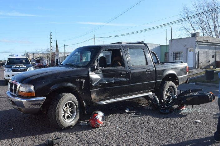 Se registraron dos heridos en un fuerte accidente