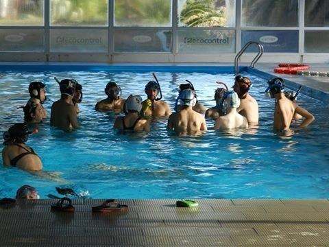 Estudiantes fue sede de torneo de hockey subacuático