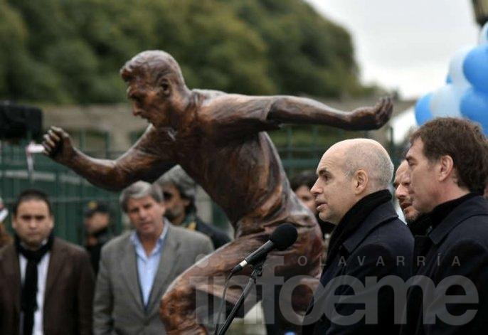 Messi tiene su estatua en la CABA