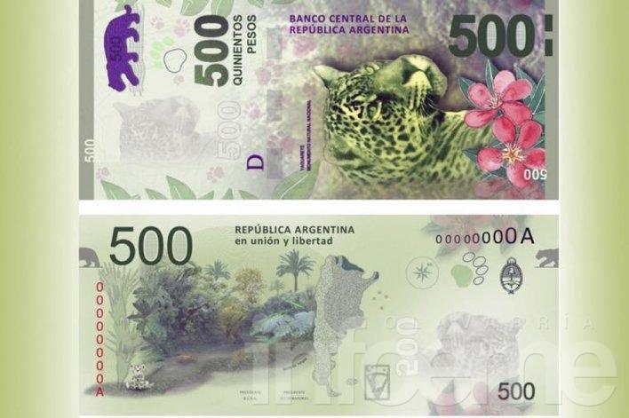 Mañana jueves entra en circulación el billete de $500