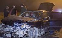 Un auto y un camión chocaron en la ruta 226