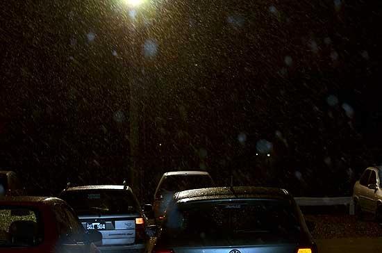 La nieve sorprendió a los olavarrienses en la madrugada