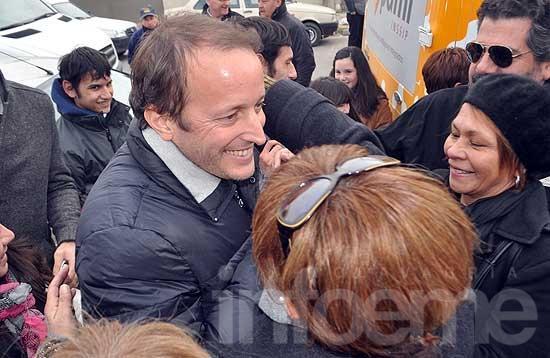 Insaurralde visitó Olavarría en plena campaña
